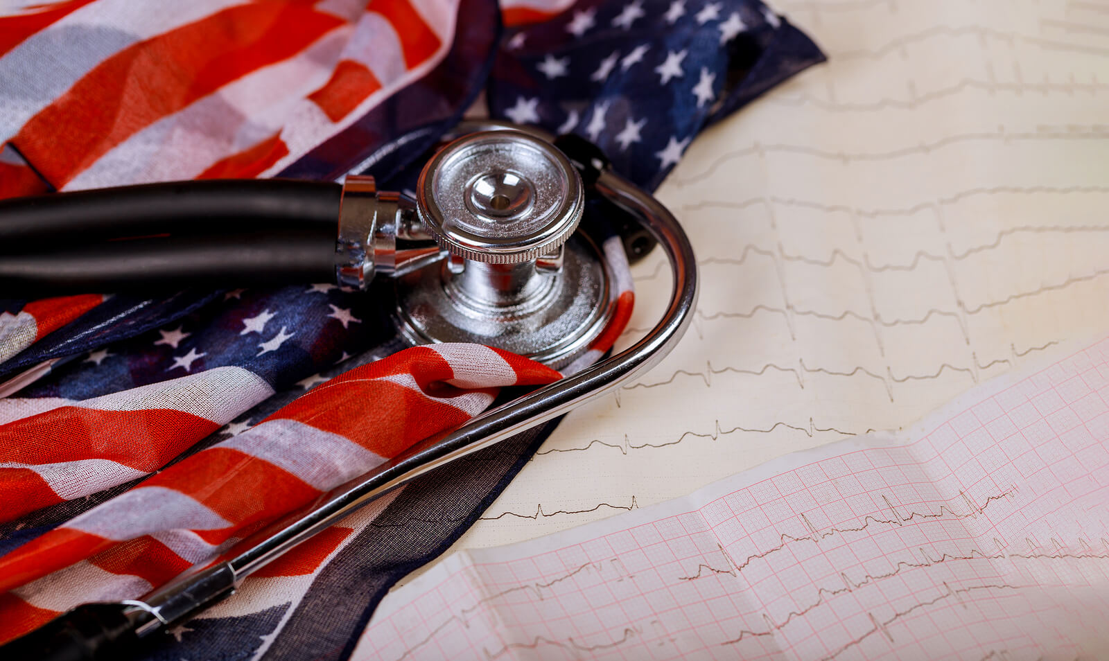 Stethoscope with US Flag